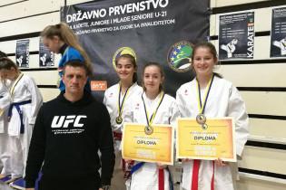 """KBS """"Zmaj"""" osvojo bronzanu medalju na 23. prvenstvu BiH u karateu"""