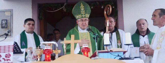 Kardinal Puljić slavio Misu na grobu fra Lovre Milanovića u župi Turić