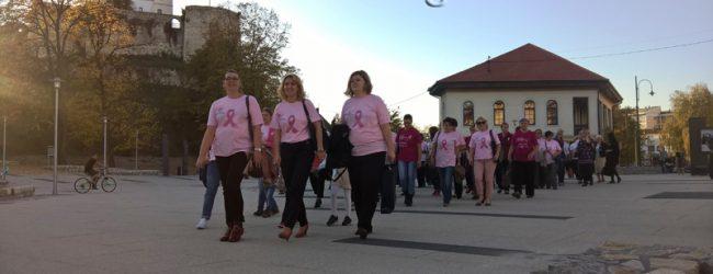 Mirnom šetnjom upućena poruka da je prevencija prvi korak u borbi protiv karcinoma dojke