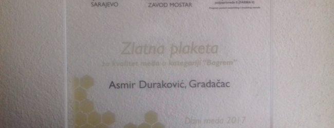 Dani meda 2017: Asmir Duraković dobitnik Zlatne plakete za bagremov med