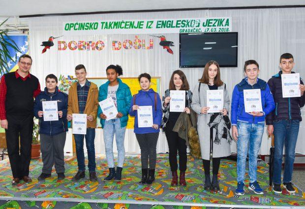 Održano općinsko takmičenje osnovaca iz engleskog jezika