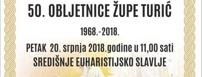 """Sutra """"Ilino"""" i obilježavanje 50 godina župe u Turiću"""