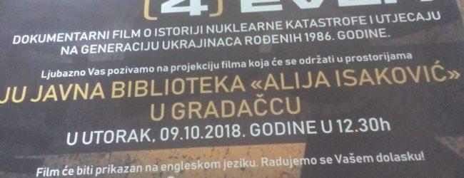"""Sutra u biblioteci """"Alija Isaković"""" projekcija filma """"Chernobyl Forever"""""""