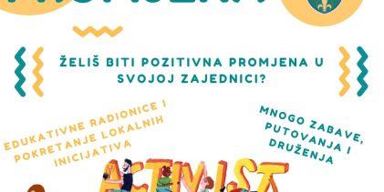 """Poziv za mlade da učestvuju u projektu """"Mladi kreatori promjena"""""""