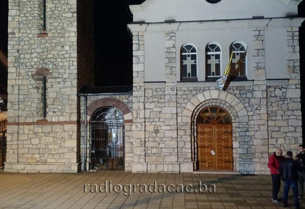 Vandalski čin u dvorištu i na objektu katoličke crkve u Gradačcu