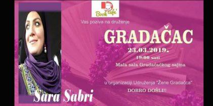 """Udruženje """"Žene Gradačca"""" organizuje druženje sa Sarom Sabri"""
