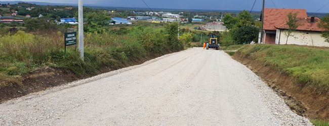 U toku pripreme za asfaltiranje puta u naselju Osoje