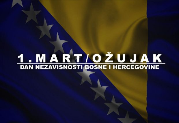 Ponedjeljak 1. mart – Dan nezavisnosti BiH neradni dan