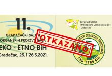 Odgođen 11. sajam organskih proizvođača Eko-etno BiH