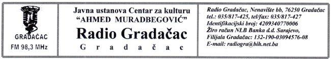 CJENOVNIK marketinških usluga u programu Radija Gradačac