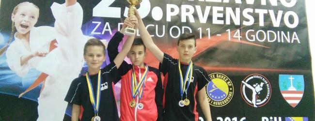 Tarik Kadić, Benjamin Halilović i Amel Mujić na 21. Balkanskom prvenstvu u karateu