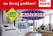 Nova akcijska ponuda BLACK RED WHITE namještaja u Sinedo Commercu