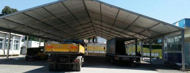 Postavljaju se montažne hale za 45. Sajam šljive u Gradačcu