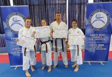 Asmir Jahić majstor karatea 5. DAN, Esma Pašalić, Fikreta Kurtić i Zijada Mujdžić položile za crni pojas
